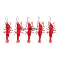 5pcs Soft Plastic Shrimp Prawn Fishing Lure Perch Bass Saltwater Fish Shoft Bait