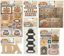Docrafts Mr Smiths Workshop Dad Fathers Day Card Making Toppers Blanks Decoupage