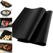 1/2Pc Reuseable BBQ Liner Non-Stick Barbecue Cooking Grill Baking Mat Sheet Tool