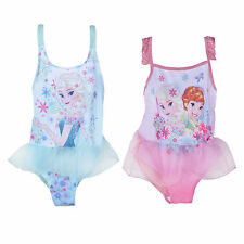 Girls Disney Frozen Swimming Costume Anna Elsa Swimsuit Kids Age 2 to 7 years