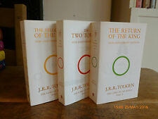 J R R Tolkien THE LORD OF THE RINGS PARTS 1, 2 AND 3 pbk 50th Anniversary ed