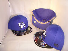 KENTUCKY WILDCATS NCAA BLUE BLACK PREMIUM MEMORY FIT SIZE 7 3/4 FITTED HAT CAP