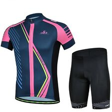 Outdoor Sports Cycling Bike Bicycle Wear Short Sleeve Jersey +(Bib) Shorts Suits