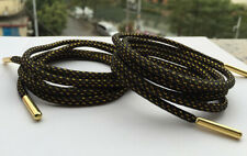 Gold Metal Tip Round Shoelace Boot Hiking Sport Sneakers Strings Laces 1.2M