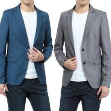 NEW Stylish Men's Casual Slim Fit One Button Suit Blazer Coat Formal Jacket Tops
