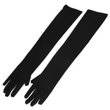 Women Party Wedding Polyester Stretchy Elbow Length Full Finger Gloves Pair