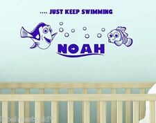 Finding Nemo Custom Name Wall Sticker Dory Fish Bedroom Personalised Kids