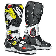 NEW SIDI CROSSFIRE 2 SRS MX  DIRT BIKE OFFROAD BOOTS FLO YELLOW/WHITE ALL SIZES