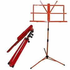 Metal Folding Sheet Music Stand Holder Tripod Base Foldable + carry case