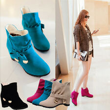 New Trend Women's Flats Boots Sports Ankle Wedge Heels Shoes Loafer Casual Size