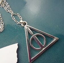 Harry potter Deathly Hallows Triangle Circle Pendant Chain Vouge Necklace