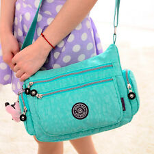 New Women Nylon Leather Satchel Handbag Shoulder Tote Messenger Crossbody Bag