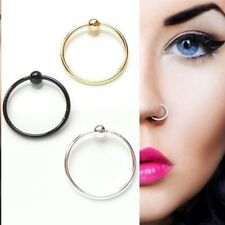 Tragus Helix Cartilage lip Eyebrow Ring Captive BCR Black Silver Gold 16g 8mm