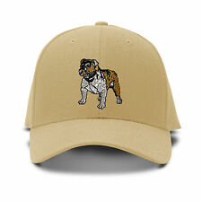 Bulldog Dog Embroidery Embroidered Adjustable Hat Baseball Cap