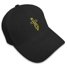 Cross With Music Sign Embroidery Embroidered Adjustable Hat Baseball Cap