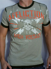 Affliction American Customs - HIGH VOLATGE - Men's  Burnout T-Shirt - A5884