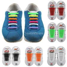 Rainbow No tie slip on shoe laces anchor pull lock silicon one size fit all type
