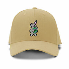 Easter Bunny Holding Egg Embroidery Embroidered Adjustable Hat Baseball Cap