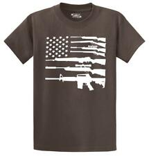 Gun American Flag T Shirt Patriotic USA Flag American Pride Gun Right Tee
