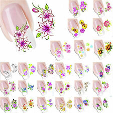 3D DIY Transfer Water Decals Stickers Nail Art Accessories Manicure Tips Decor