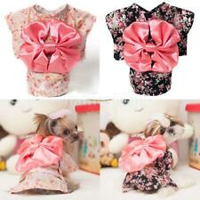 Pet Small Dog Cat Japanese Kimono Clothes Apparel Costume Skirt Dress SIZE XS-XL