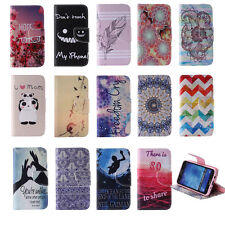 Card Holder Wallet Folio Case for Samsung iPhone PU Leather Stand Phone Cover