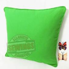 A21-Bud Green Cotton Canvas Cord Cushion Cover Custom Size + Butterfly Pin