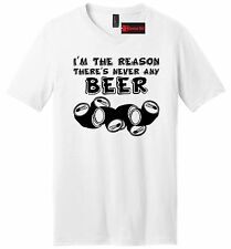 Im The Reason There's Never Beer Funny Mens V-Neck T Shirt Party Dad Gift Tee