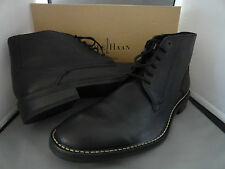 NEW COLE HAAN CANTON LACE BOOT II MEN'S LEATHER ANKLE BOOTS BLACK $228+ Sz 12 M