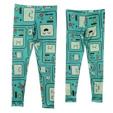 Adventure Time Beemo BMO Pattern Finn And Jake Licensed Leggings S-XL