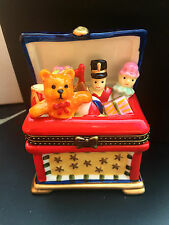 CERAMIC TRINKET BOX TOYBOX SOLDIER TEDDY CHRISTENING NEW BABY GIFT