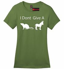 I Don't Give A Rats @ss Funny Ladies T Shirt Adult Humor Party Donkey Tee Z4