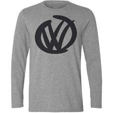 Long Sleeve Grey T-Shirt with VW DESIGN -Golf Camper Polo GTI Beetle T5 T4