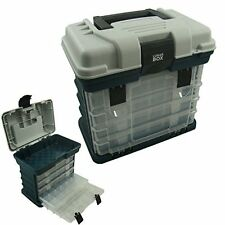Storage Carry Case With 4 Adjustable Compartment Storage Boxes, Fishing Tackle B