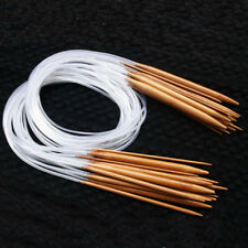 18size Double Pointed Knitting Needle Carbonized Bamboo Circular Craft Knit Tool