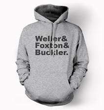 Grey Hoodie with WELLER FOXTON BUCKLER NAMES - the jam mod paul bruce rick