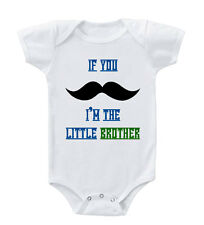 Mustache Little Brother Infant Toddler Baby Cotton Bodysuit One Piece