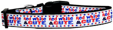 Patriotic Dog Collar, Red White & Cute, 4th of July, Pet Collar
