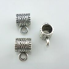 20/40/300pcs Tibetan Silver Connectors Spacer Bail Beads Charms 7x9x12mm