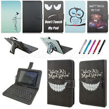 """Stand PU Leather Case Cover Micro USB Keyboard For Lenovo Tab 7"""" 8"""" 10.1"""" Tablet"""