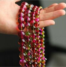 """6/8/10/12/14/16/18mm Natural Multicolor Watermelon Tourmaline Loose Beads 15""""AAA"""
