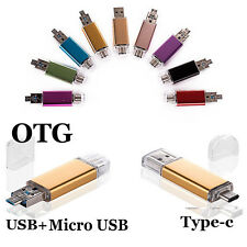 Dual USB 3.1 OTG Type C Port U-Disk Flash Drive Memory Stick 32GB 16GB 64GB