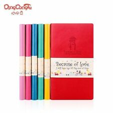 PU Leather Colorful Notebook Schedule Week Planner Diary Journal Note Memo #UK