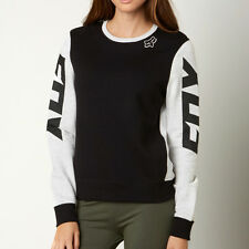Fox Racing Womens Black/White Race Pullover Hoody