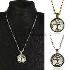 Retro Mens Womens Tree of Life Charm Pendant Chain Necklace Special Day Gift