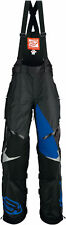 Arctiva Mens Black/Blue/White Comp Insulated Snowmobile Bibs/Pants