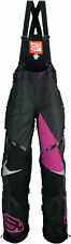 Arctiva Womens Black/Purple Comp Insulated Snowmobile Bibs/Pants