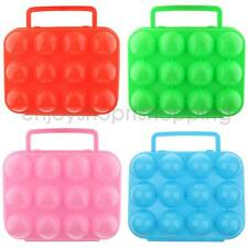 Portable Plastic Egg Storage Box Case Container 12 Eggs Holder