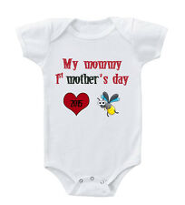 Bee Saying Mommy 1St Mother's Day Custom Infant Toddler Baby Bodysuit One Piece