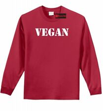 Vegan L/S T Shirt Vegetarian Vegan For Life PETA Animal Lover Gift Tee Shirt Z1